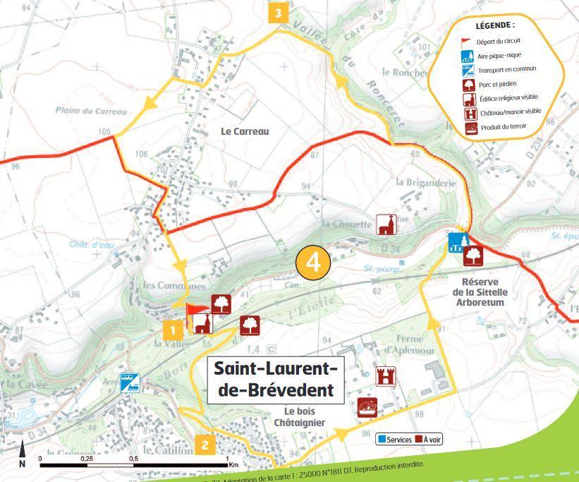 Plan randonnée circuit 4